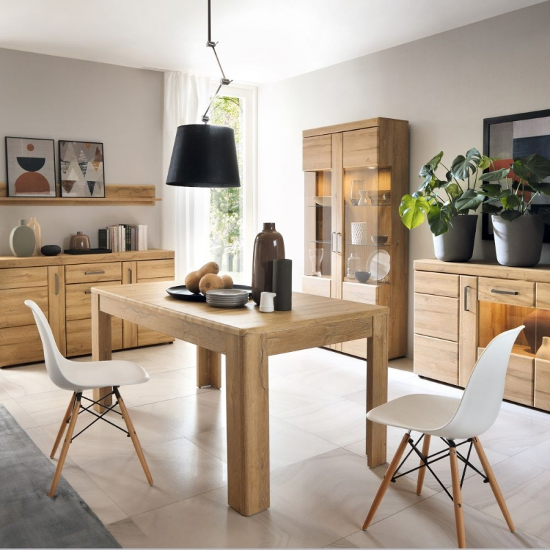Cortina Grandson Oak Extending Dining Table