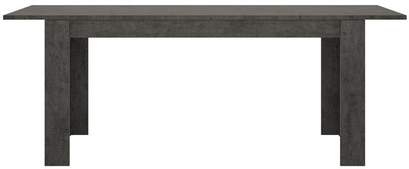 Zingaro Extending Dining Table and 4 Milan Grey Chairs - Slate Grey