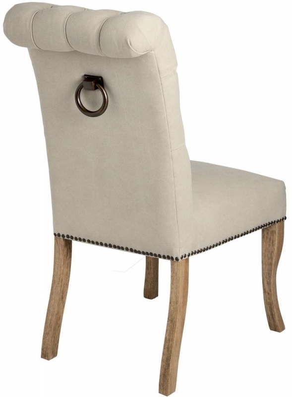 Clearance Half Price - Hill Interiors Roll Top Dining Chair with Ring Pull (Pair) - New - T057