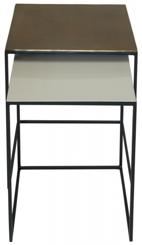 Clearance Half Price - Content by Terence Conran Fera Square Nest of Tables - Cast Pebble - New - T080