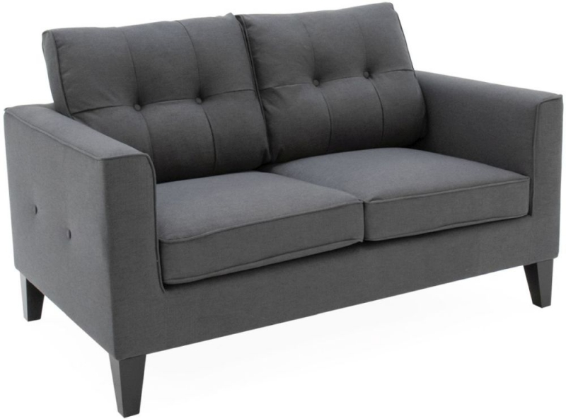Vida Living Astrid 2 Seater Sofa - Charcoal Fabric