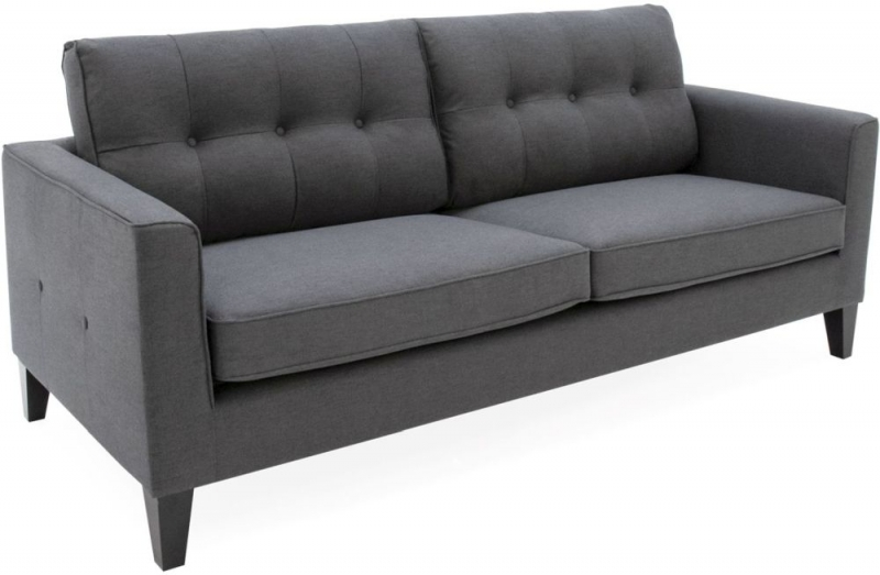 Vida Living Astrid 3 Seater Sofa - Charcoal Fabric