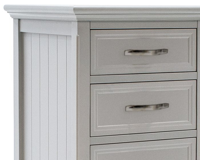 Vida Living Harlow 5 Drawer Tall Chest - Grey