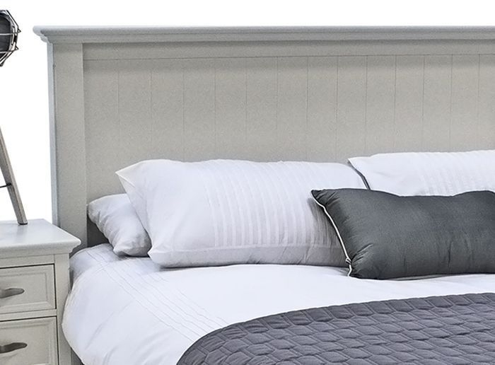 Vida Living Harlow Bed - White Painted