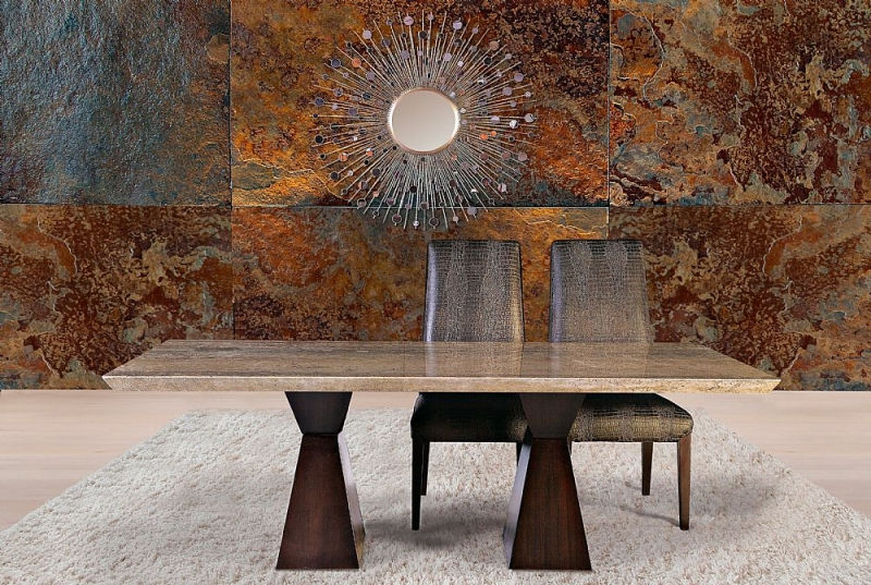 Stone International Clepsy Dining Table - Marble and Wenge Wood