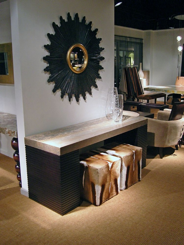 Stone International Espresso Large Occasional Tables - Marble and Wenge Wood