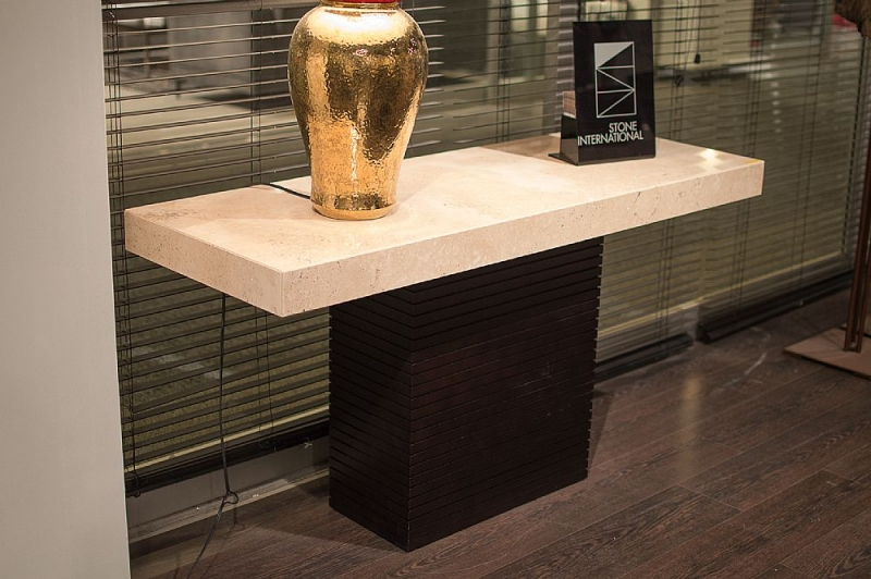 Stone International Espresso Occasional Tables - Marble and Wenge Wood