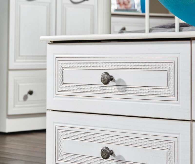 Oyster Bay Signature White Double Pedestal Dressing Table