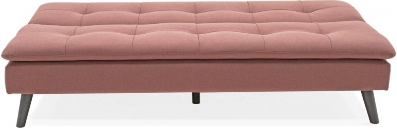Vida Living Hannah Sofa Bed - Coral Pink Fabric