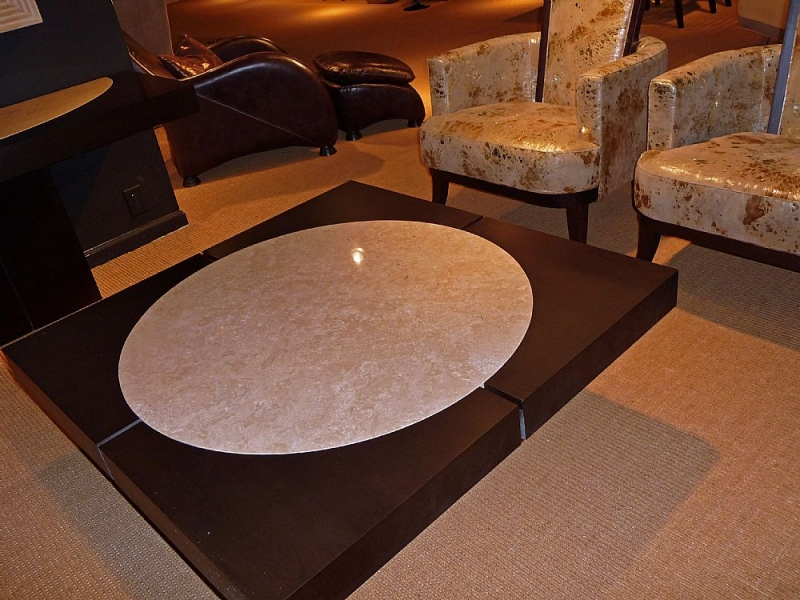 Stone International Moon Occasional Tables - Marble and Wenge Wood
