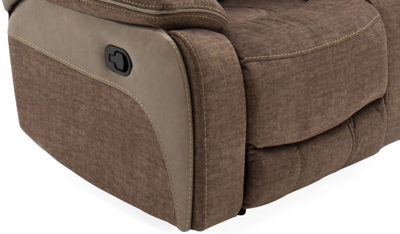 Vida Living Santiago Recliner Chair - Brown Fabric