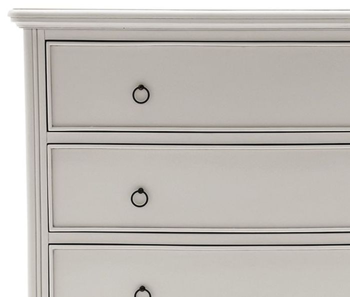 Vida Living Camille 4 Drawer Tall Chest - Grey