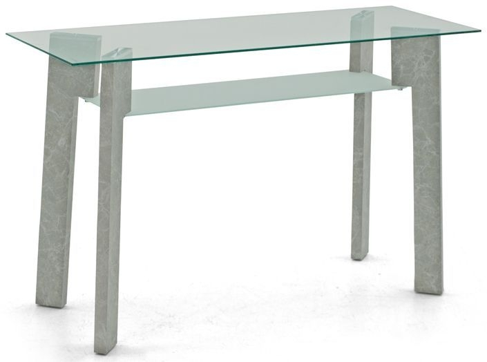 Vida Living Odense Console Table - Glass and Grey