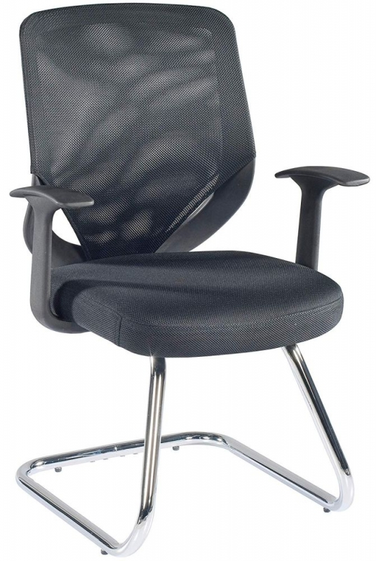 Alphason Atlanta Black Mesh Fabric Office Chair - AOC9201-V-BLK