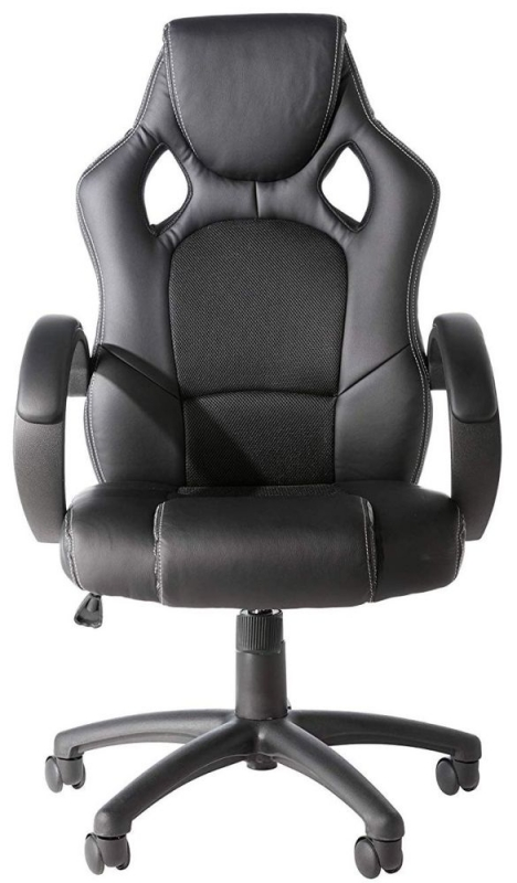Alphason Daytona Black Faux Leather Office Chair - AOC5006BLK