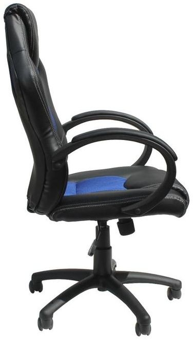 Alphason Daytona Faux Leather Office Chair - Black and Blue AOC5006BLU