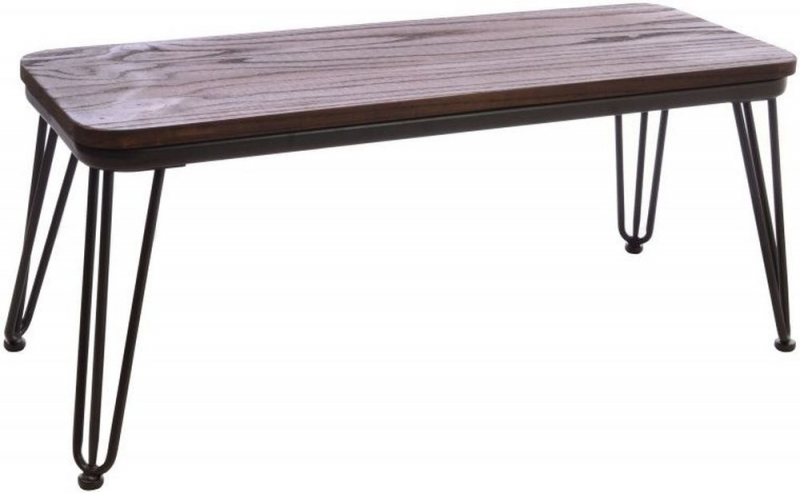 Ancient Mariner Fitzroy Elm Bench with Hairpin Legs