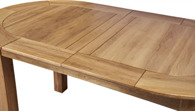 Tuscany Oak Large D-End Extending Dining Table