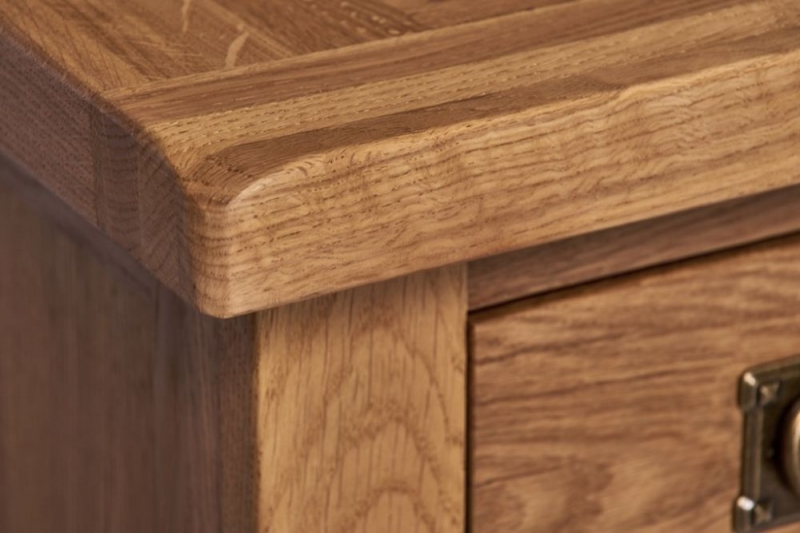 Country Oak 2 Drawer Lamp Table