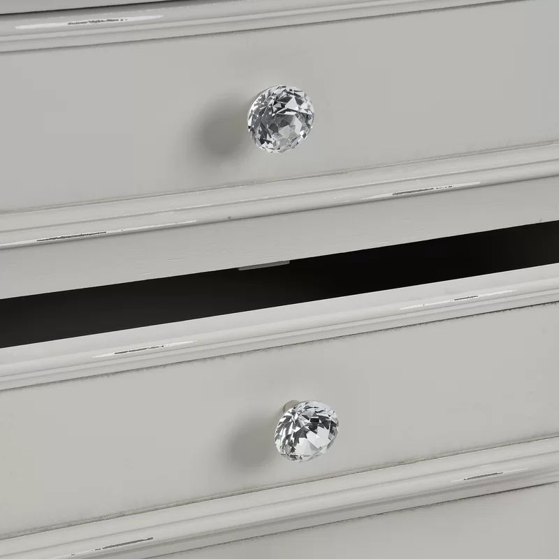 Clearance Half Price - Hill Interiors Fleur 3 Drawer Bedside Table - Grey - New - T053