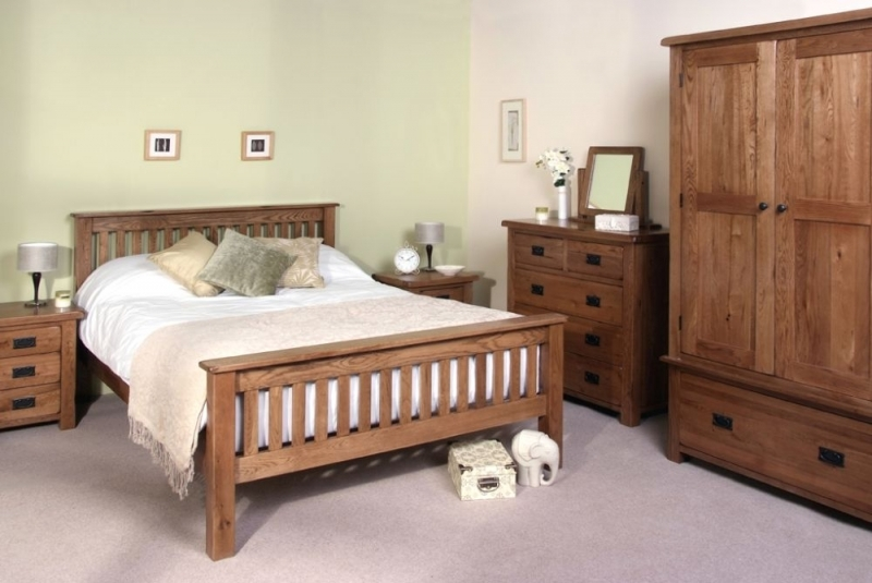 Clearance Half Price - Devonshire Rustic Oak 3+2 Drawer Large Chest - New - GR57