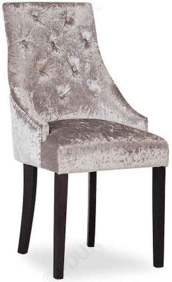Clearance Half Price - Vida Living Hobbs Dining Chair (Pair) - Silver Crushed Velvet - New - T043