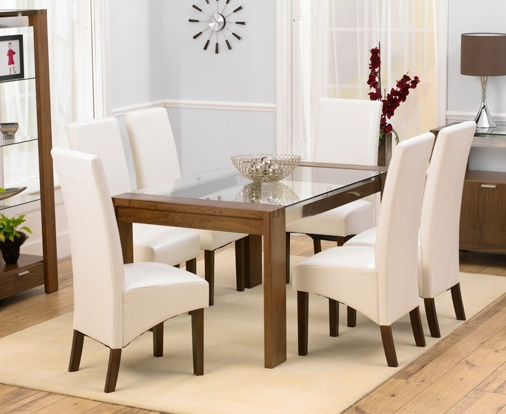 Clearance Half Price - Mark Harris WNG Dining Chair (Pair) - Ivory Faux Leather - New - Z1007