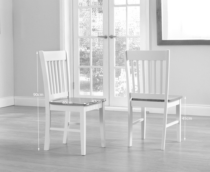 Clearance Half Price - Genoa Oak and Cream Dining Chair (Pair) - New - GR41