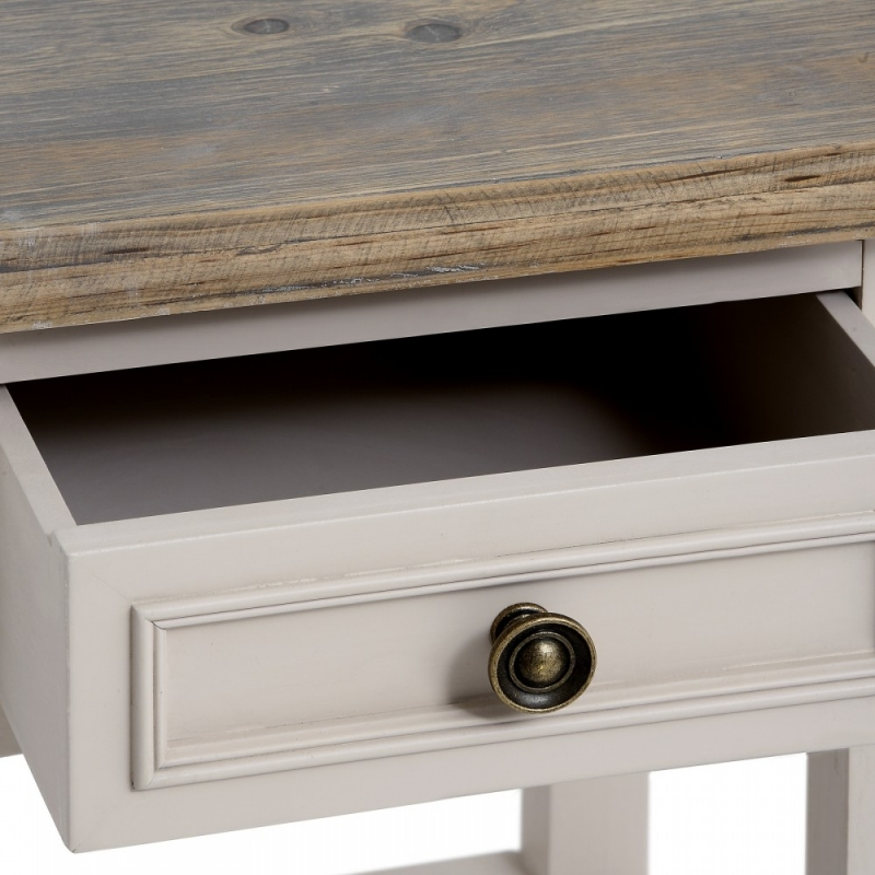 Clearance Half Price - Hill Interiors Studley Grey 1 Drawer Plant Table - New - T060