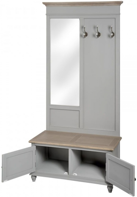 Clearance Half Price - Hill Interiors Churchill Collection Mirrored Hall Unit - New - Z1021