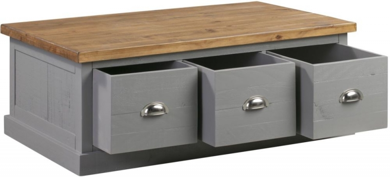 Hill Interiors Byland Grey Storage Coffee Table
