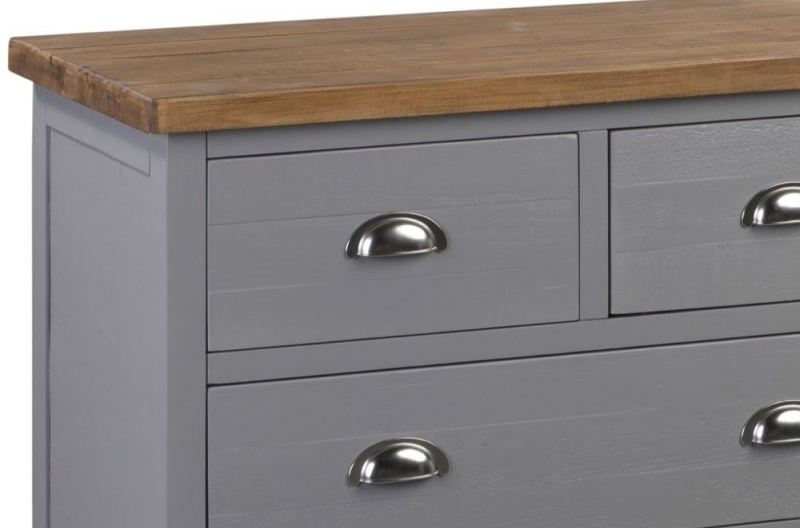 Hill Interiors Byland Grey 3+2 Drawer Chest