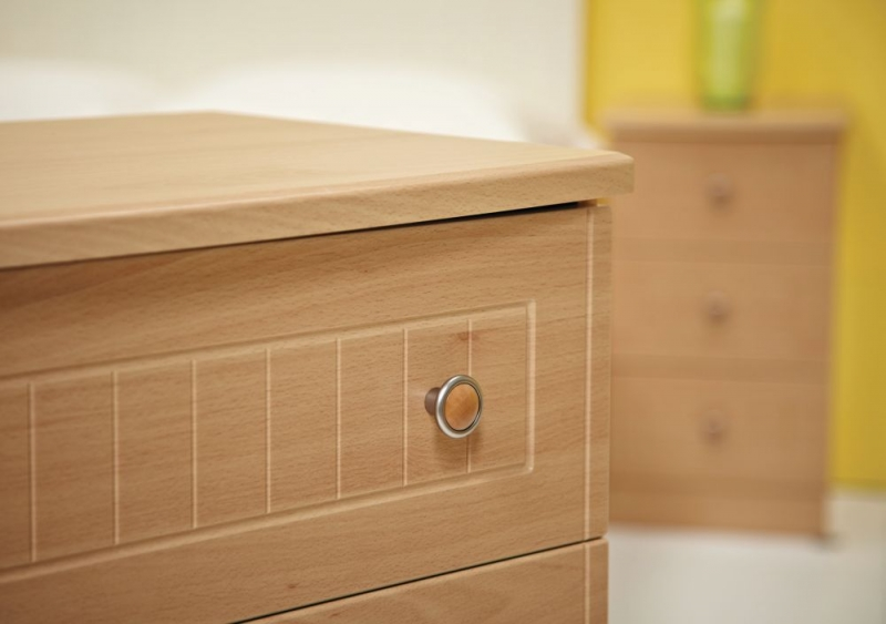 Warwick Beech 3 Drawer Chest