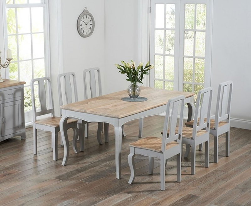 Mark Harris Sienna Grey Painted Dining Table