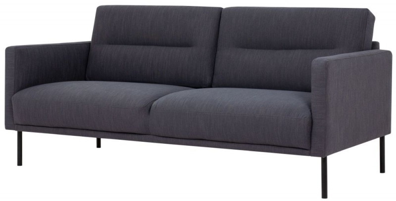 Larvik Antracit Fabric 2.5 Seater Sofa with Black Metal Legs