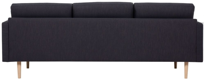 Larvik Antracit Fabric 3 Seater Sofa with Oak Legs