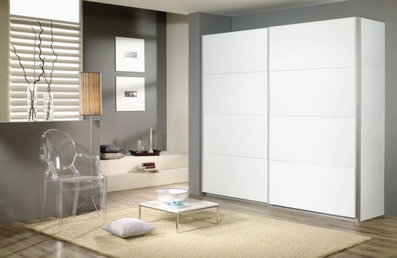 Rauch Quadra Sliding Wardrobe with Decor Front