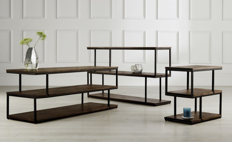 Content by Terence Conran Balance Low Shelving Unit - Wood and Black Metal