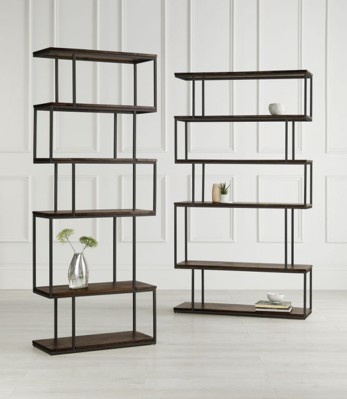 Content by Terence Conran Balance Alcove Shelving Unit - Wood and Black Metal