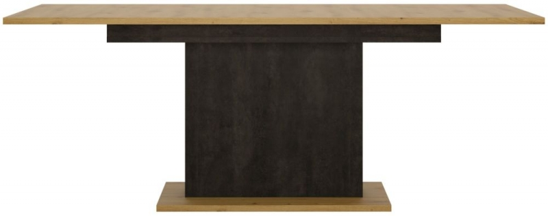 Aviles Extending Dining Table - Artisan Oak and Dark Accents