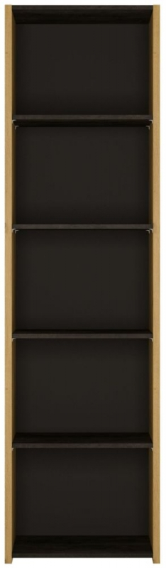 Aviles Bookcase - Artisan Oak and Dark Accents