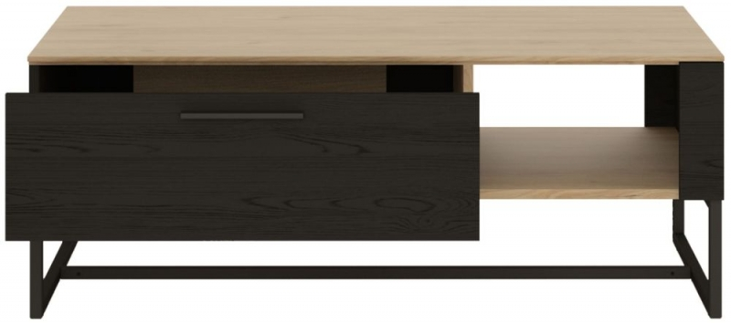 Cordoba Storage Coffee Table - Light Jackson Hickory and Dark Accents
