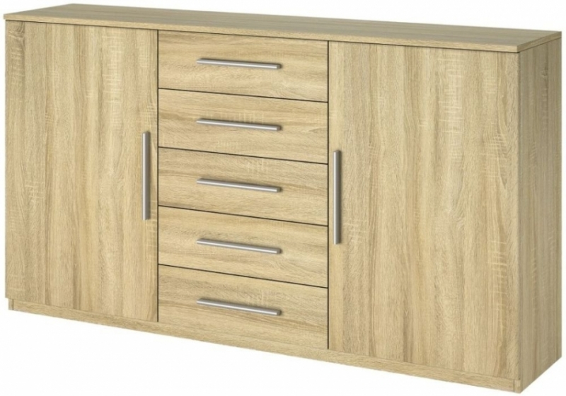 Rauch Vereno 2 Drawer Bedside Cabinet in Sonoma Oak - (Pair)
