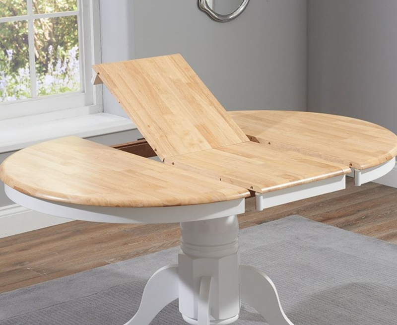 Mark Harris Elstree Extending Dining Table - Oak and White