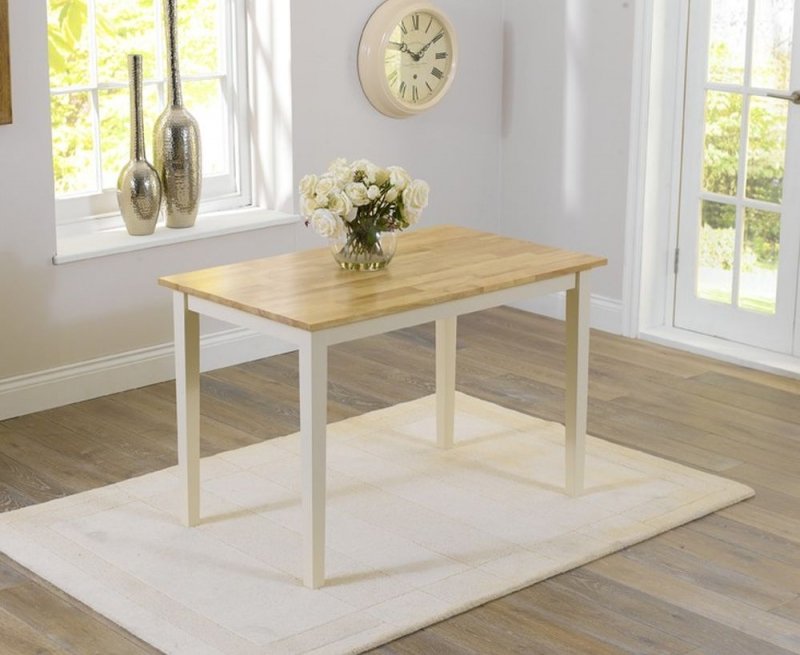 Mark Harris Chichester Dining Table with 2 Chairs and Bench - Oak and Cream