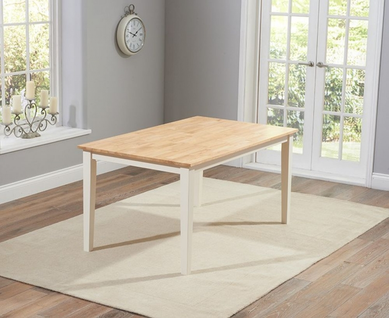 Mark Harris Chichester Large Dining Table with 2 Chairs and 2 Benches - Oak and Cream