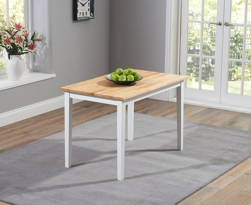 Mark Harris Chichester Dining Table and 4 Chairs - Oak and White