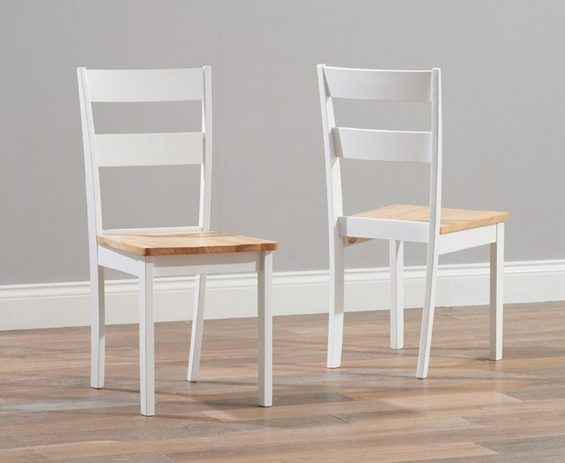 Mark Harris Chichester Large Dining Table and 4 Chairs - Oak and White