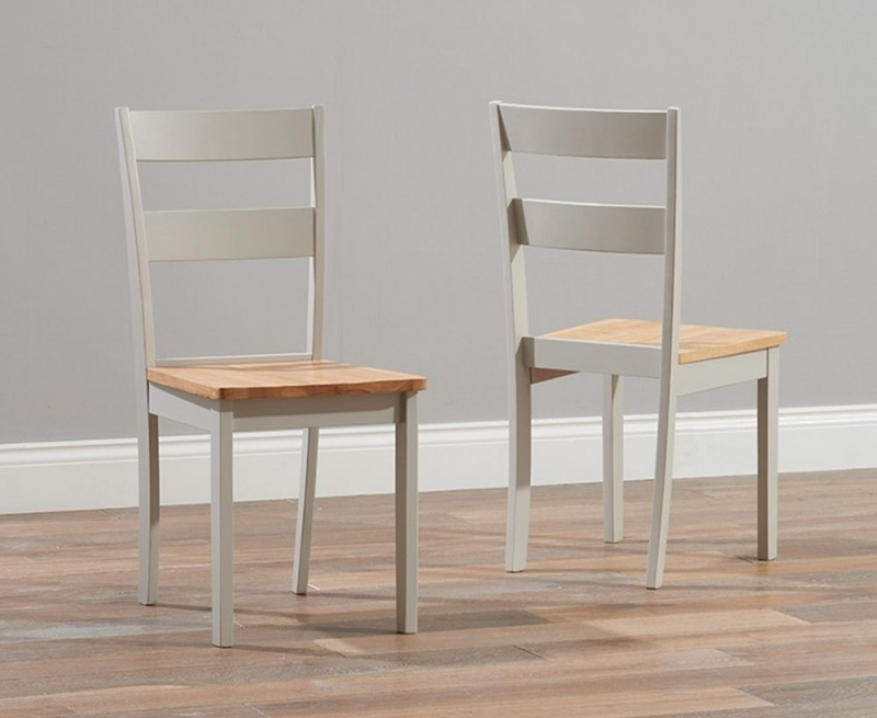 Mark Harris Chichester Dining Table and 4 Chairs - Oak and Grey