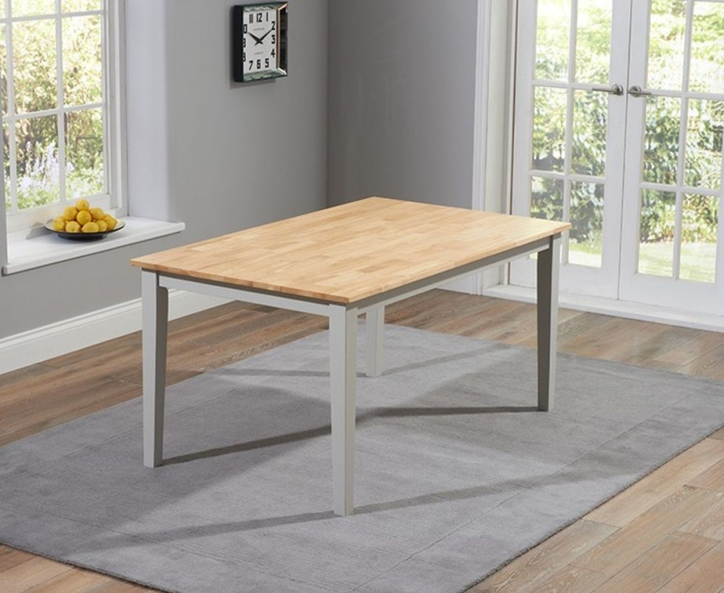 Mark Harris Chichester Large Dining Table and 2 Benches - Oak and Grey